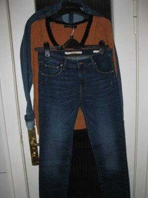 Jeans+Jacke+Oberteil Set, DE 34 /Zara, Promod, Ors/