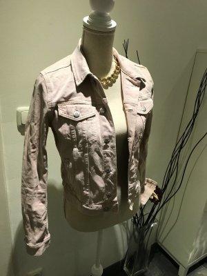 Jeans-Jacke Rosé mit silbernen Knöpfen