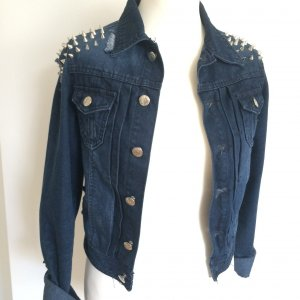 Jeans Jacke s blau Nieten destroyed used studded Julie