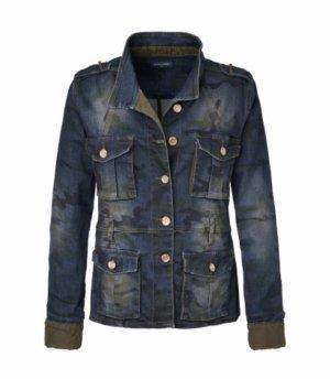 Jeans Jacke Summum, blau, Gr. 38 mit Motivmuster