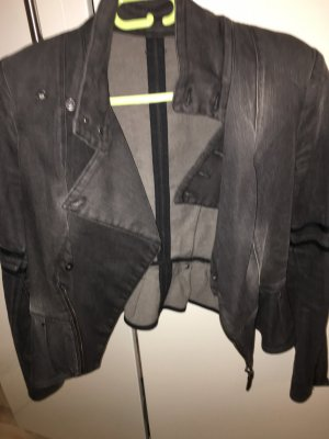 Diesel Denim Blazer anthracite cotton