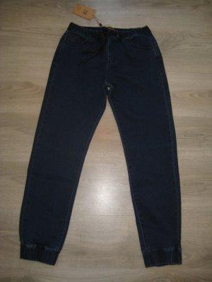 Jeans elasticizzati blu scuro Cotone