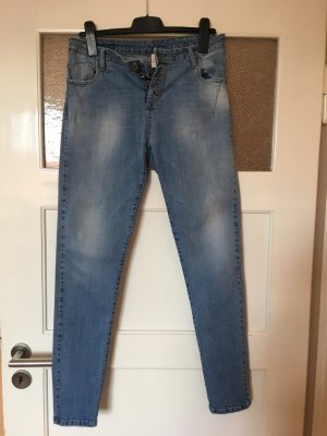 Maryley Stretch jeans staalblauw