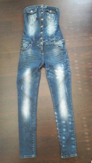Jeans Jumpsuit ohne Träger