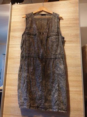 Jeansjurk zwart-donkergrijs