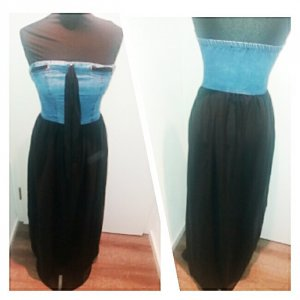 Denim Dress black-blue