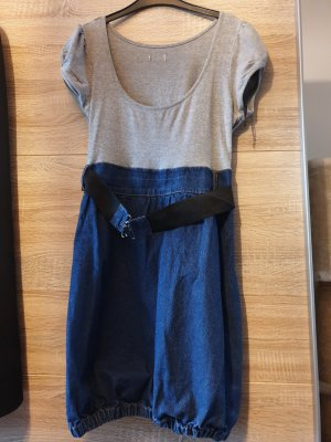 Jeansjurk lichtgrijs-blauw