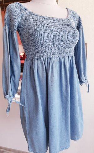 Jeans Kleid mit langen Ärmeln