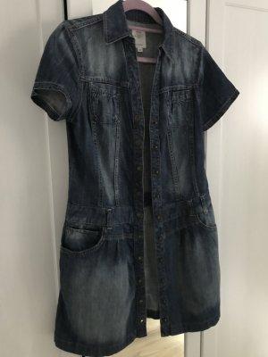 s.Oliver Robe en jean bleu