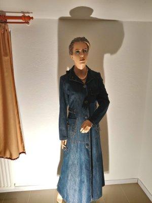 Jeans Kleid und Maxi Mantel