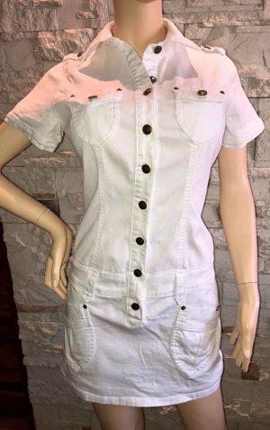 Jeans Kleid von Buffalo London in gr 38 weiss