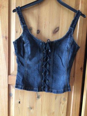 Jeans Korsage mit Stretch