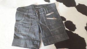 Miss Sixty Pantalón corto de tela vaquera azul acero
