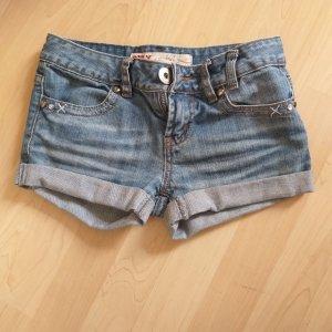 Only Pantaloncino di jeans blu acciaio-blu fiordaliso