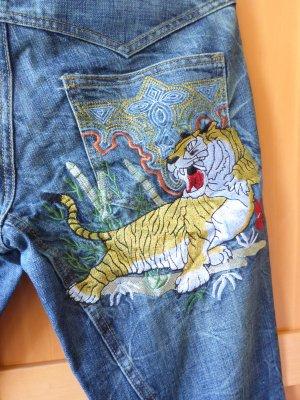Jeans - Lass den Tiger raus - Antik Demin