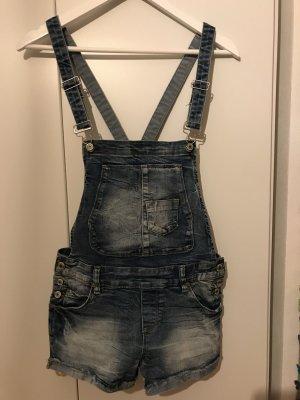 FB Sister Pantalón corto tipo peto azul