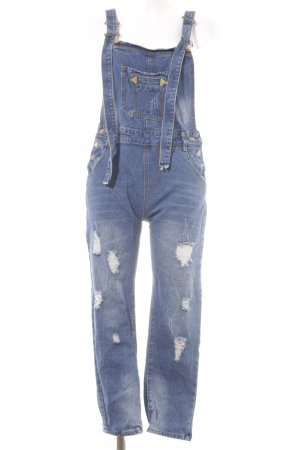 Jeans Dungarees dark blue urban style