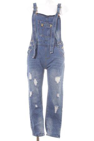 Jeans Peto azul oscuro estilo urbano