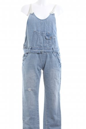 Jeans Salopette blu stile casual