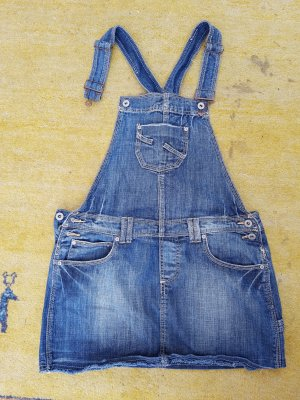 Sublevel Pinafore Overall Skirt blue