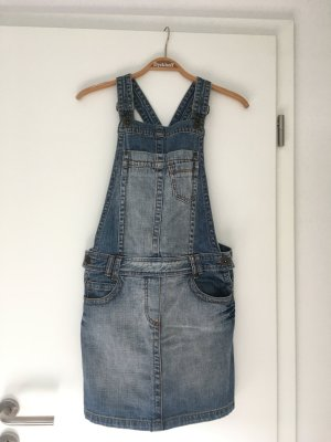 Edc Esprit Pinafore Overall Skirt light blue-blue