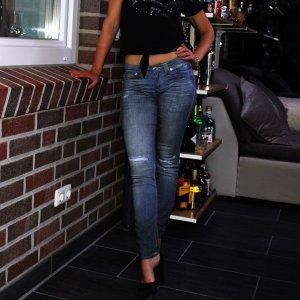 True Religion Jeans skinny blu-blu acciaio