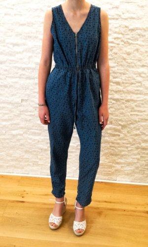 Jeans-Leoprint-Jumpsuit, Gr. 36