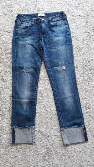 Jeans 7/8 bleu coton