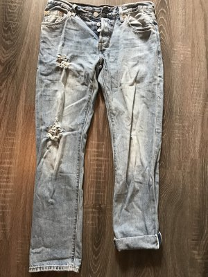 Jeans Levi's 501, hellblau, destroyed