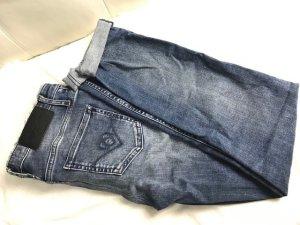 Liebeskind Berlin Jeans a zampa d'elefante blu acciaio-bianco