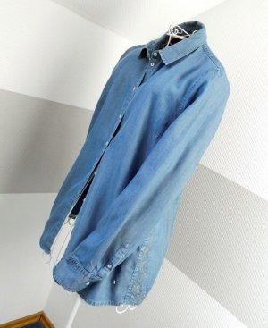 Bogner Jeans Blouse en jean bleu acier-argenté coton