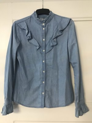 Jeans-Look Hemd/Bluse