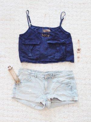 Jeans Lover | Hellblaue Jeans-Shorts im Used-Look