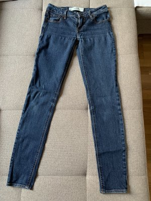 Abercrombie & Fitch Low Rise Jeans dark blue