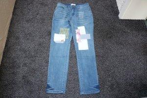 #Jeans m. Applikationen, Gr. 36, #stone, #Linea Tesini, #NEU