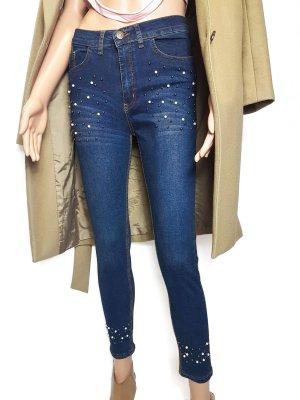 Jeans m. Perlenverzierung Trendy Gr.27/28