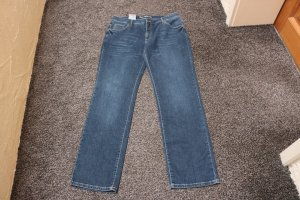 Jeans a gamba dritta blu scuro Cotone