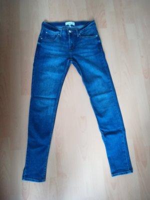 Mango Slim jeans blauw