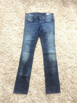 Diesel Jeans taille basse bleu foncé