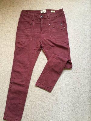 Jeans Marlex, weinrot, baggy