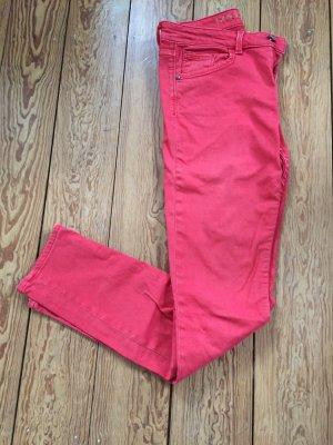 Mexx Jeans carotte rouge brique