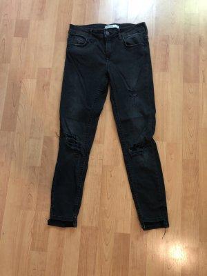 Zara Jeans skinny nero-antracite