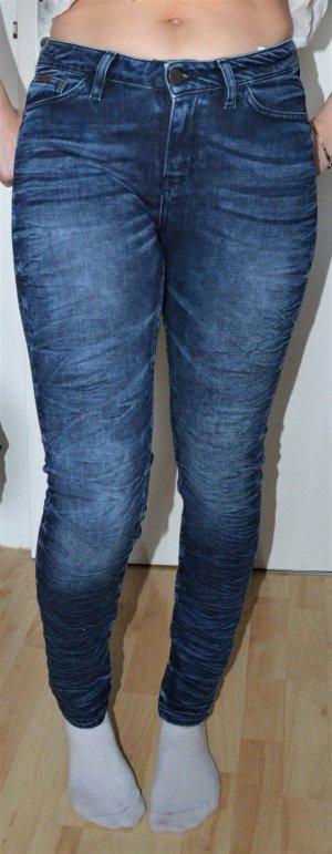 Jeans Mid Rise -Super Skinny- Jeansblau