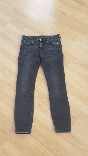 Jeans Midi Waist Stretch Skinny Röhre Slim Fit