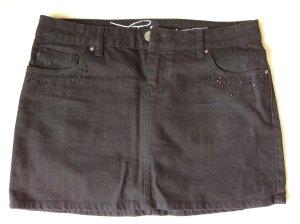 Jeans-Mini in schwarz mit cooler Strass-Verzierung
