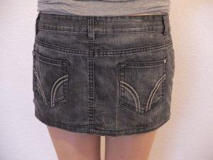 Jeans Mini Rock Anthrazit