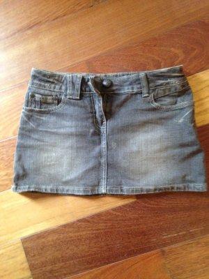 Jeans Mini-Rock in grau Größe 34