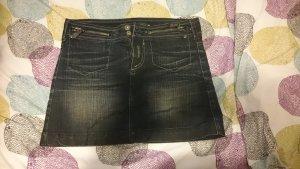 Jeans Mini-Rock in Schwarz