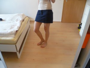 Jeans Mini Rock Review dunkelblau