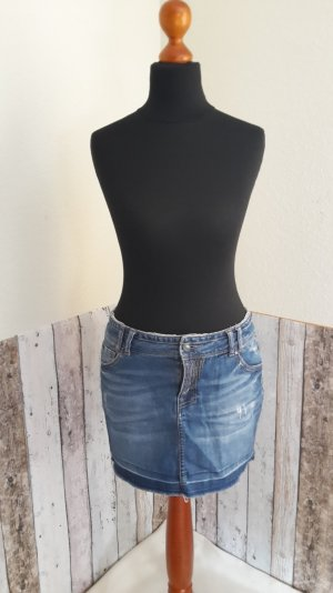 Jeans Mini-Rock - used look
